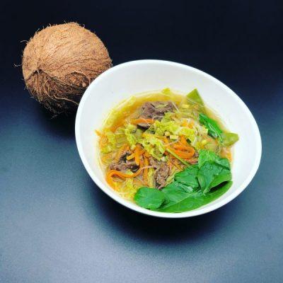 Vietnamesische Homeoffice Suppe