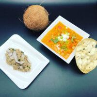 Indisches Butterhuhn Curry mit Reis